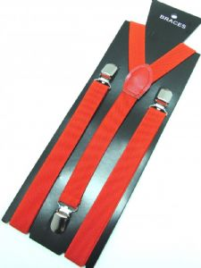 Red Braces 2cm wide